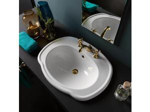 Drop-in Bathroom Sink in White