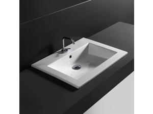 28 in. Drop in Bathroom Sink in White