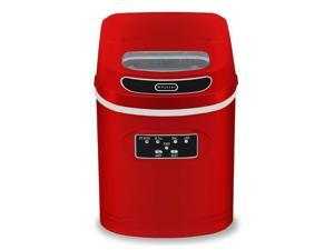 Compact Portable Ice Maker in Metallic Red