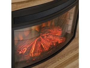 Paite 26 in. Curved Fireplace Insert