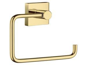 R. Roll Holder in Polished Brass Finish