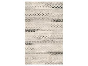 Contemporary Rectangular Rug in Cream and Gray (10 ft. L x 8 ft. W (48 lbs.))