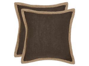 Sweet Sorona Decorative Pillows in Brown - Set of 2