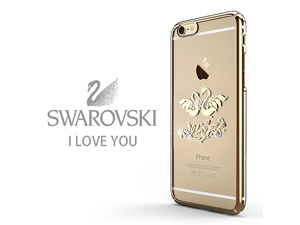 CASECUBE® iPhone 6/6s Plus Case [Brilliant Color] SWAROVSKI PC Series for Apple iPhone 6/6s Plus - I Love You