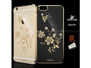 CASECUBE® iPhone 6/6s Plus Case [Brilliant Crome Color] SWAROVSKI PC Series for Apple iPhone 6/6s Plus - Butterfly