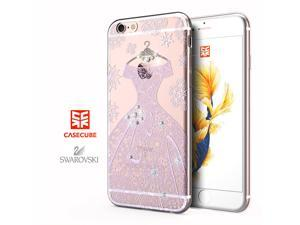 CASECUBE® iPhone 6/6s Plus Case [Wedding Dress] SWAROVSKI TPU Series for Apple iPhone 6/6s Plus - White