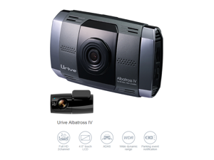 "Urive Albatross 4(IV) MD-9400E 2CH Full HD (Front/Rear 1080p), SONY CMOS, Night Vision, 4"" LCD Touch Screen IPS Panel, LDWS, FCWS, FVSA, WDR, MD-9400E Car Dashcam DVR Recorder Blackbox - 32GB with GPS"