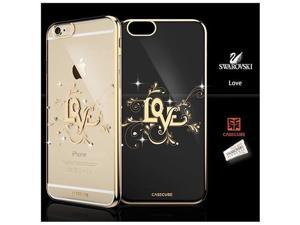 CASECUBE® iPhone 6/6s Plus Case [Brilliant Crome Color] SWAROVSKI PC Series for Apple iPhone 6/6s Plus - LOVE