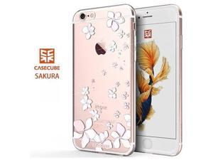 CASECUBE® iPhone 6/6s Case [Flower Fragrance] SWAROVSKI TPU Series for Apple iPhone 6/6s - Sakura