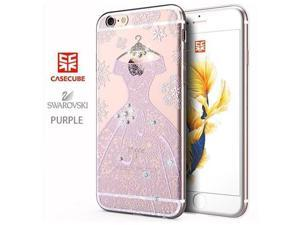 CASECUBE® iPhone 6/6s Case [Wedding Dress] SWAROVSKI TPU Series for Apple iPhone 6/6s - Purple