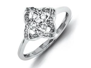 Sterling Silver Diamond Ring - Promise Ring - Size 7