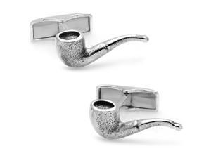 Smoke It In Your Pipe Sterling Cufflinks