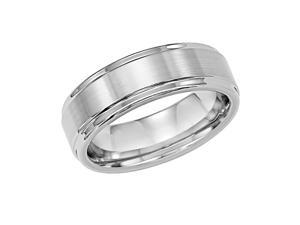 Triton, White Tungsten Carbide 7mm Comfort Fit Wedding Band