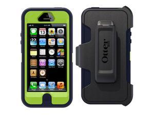 OtterBox Defender Series Hybrid Case & Holster for iPhone 5/5S  - Retail Packaging - Punk Blue