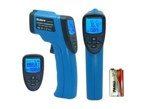 Nubee® FDA Approved Non-contact Infrared (IR) Thermometer (-58F to 1382F) w/ Laser Sight MAX Display and Emissivity Adjustable FDA/FCC/CE/ROHS Approved