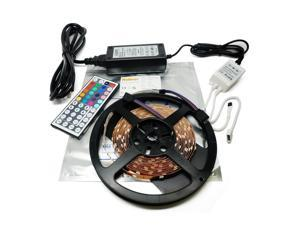 Nubee® 16.4ft 5M RGB SMD 5050 Non-waterproof Flexible Strip light + 44Key IR Remote Controller + 12V 4A Power Supply