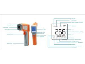 Nubee Dual Laser Optical Focus Temperature Gun Non-contact Infrared IR Thermometer Range -58F to 1076F w/ Dual Laser Sight Includes Battery FDA/FCC/CE/ROHS Approved