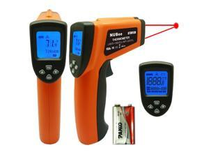 Nubee® Dual Laser Optical Focus Temperature Gun Non-contact Infrared IR Thermometer Range -50?~1300?(-58?~2372?)  Includes Battery FDA/FCC/CE/ROHS Approved