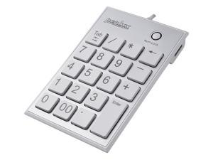 Perixx PERIPAD-202HW, Numeric Keypad for Laptop - USB - Built-in 2xUSB Hub - Tab Key Feature - Full Size 19 Keys - Big Print ...