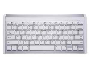 Perixx PERIBOARD-804II W, Wireless Bluetooth Keyboard - White/Silver - Compatible with iPad & iPhone - On/Off Switch