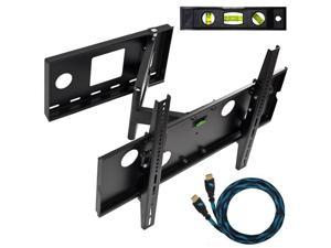 "Cheetah Mounts 32-65"" LCD TV Wall Mount Bracket with Full Motion Swing Out Tilt & Swivel Articulating Arm for Flat Screen Flat Panel LCD LED Plasma TV and Monitor Displays Includes Free 10' HDMI Cable"
