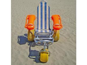 Mobi Chair Adjustable Folding Floating Rolling Beach Wheelchair