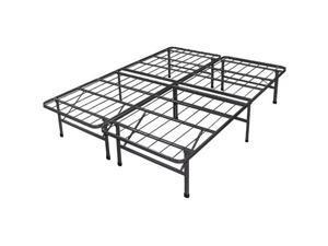 Innovative Platform Metal Box Spring / Bed Frame with Brackets and Skirt - King