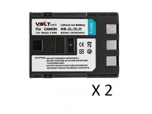 Voltsonic 720mAh Li-Ion Rechargeable Digital Camera Battery for Canon NB-2L / NB-2LH - 2 Pack
