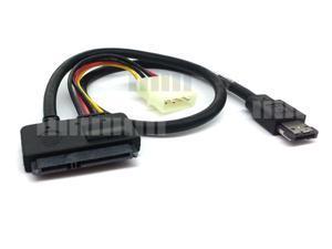 """50cm 20"""" 22 pin (15 Pin + 7 Pin) eSATA  External Serial ATA ( eSATA ) to 7 Pin Power Over External Serial ATA eSATAp eSATA ... - OEM"""