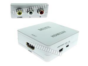 Manual Adjust Resolution HDMI to RCA AV CVBS Switch Box Composite Max. 1080P with External USB Power Source Spport NTSC PAL OEM