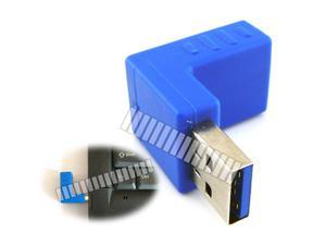 Backward Downward 90 Degree Right Angle USB 3.0 A Male to Female Adapter Converter Extender Connector 90 Degree Turn Change Direction