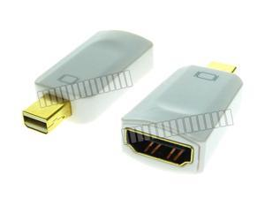 Small Adapter HDMI Female to Mini Displayport Male Converter Connector Compatible with Thunderbolt for MacBook MacBook Pro Air Mini iMac to HDMI HDTV Display Projector -OEM