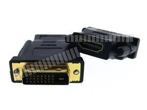 24+1 Pin DVI Male to HDMI Female Gold Plated Connector Converter Adapter HDMI Female to 24+1 Pin DVI Male Connector Cable Converter with Screw OEM