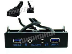 3.5 Front Panel USB 3.0 and Audio Connector Cable USB Hub Mic Headset Floppy Disk Position Replacement Multi-Function OEM