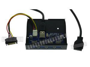 3.5 Front Panel USB 3.0 x 4 Hub Motherboard USB3.0 20 Pin to USB A 3.0 Cable Floppy Disk Position Replacement OEM