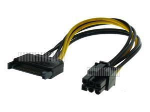 6 Pin to SATA Power Cable Adapter Converter for PCI-E to 15 Pin SATA Lead Cord Computer Internal Connector PC DIY