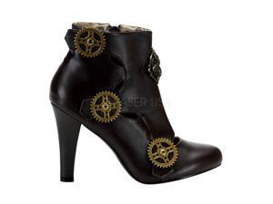 TESLA-12, Steampunk Ankle Bootie Shoes/Boots