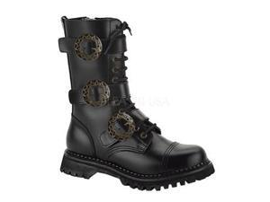 STEAM-12, 12 Eyelet 3 Strap Steel Toe Brown Leather Calf Boot