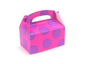 Pink with Purple Big Dots Empty Favor Boxes (4 count)