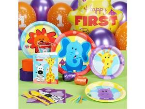Safari Friends 1st Birthday Standard Party Pack - 16