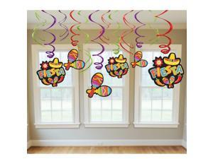 Fiesta Value Pack Hanging Swirl Decorations
