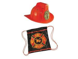Jr.Firefighter Drawstring Backpack(2 Piece Bundle)