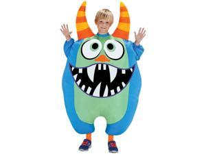 Inflate Scareblown Blue Child Costume
