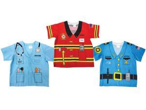 Child Firefighter Police and Doctor 3 Piece Bundle