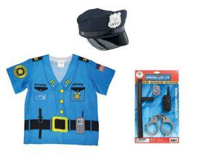 Child Police Costume 3 Piece Bundle