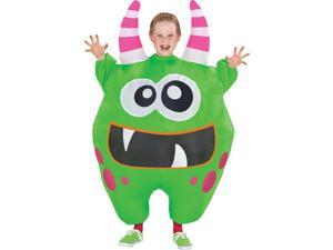 Inflate Scareblown Green Child Costume