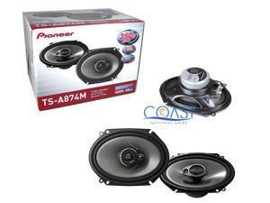 "Pioneer TS-A874M 6""x8"" 3-Way 350W Max Coaxial Car Speaker System"