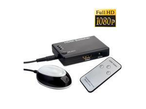 AUTO IR REMOTE 3 PORT HDMI SWITCH SWITCHER SPLITTER 3D HUB NE#3
