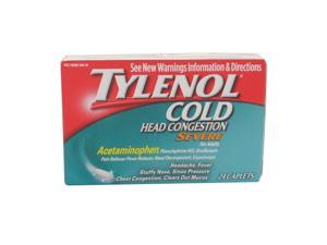 TYLENOL  COLD HEAD CONGESTION SEVERE FOR ADULTS  24 CAPSULES