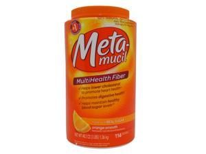 METAMUCIL  MULTIHEALTH FIBER WITH REAL SUGAR ORANGE SMOOTH 114 DOSES